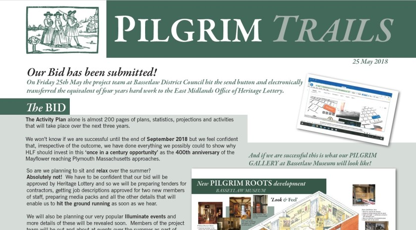 HLF Project Newsletter 2 Pilgrim Trails extract