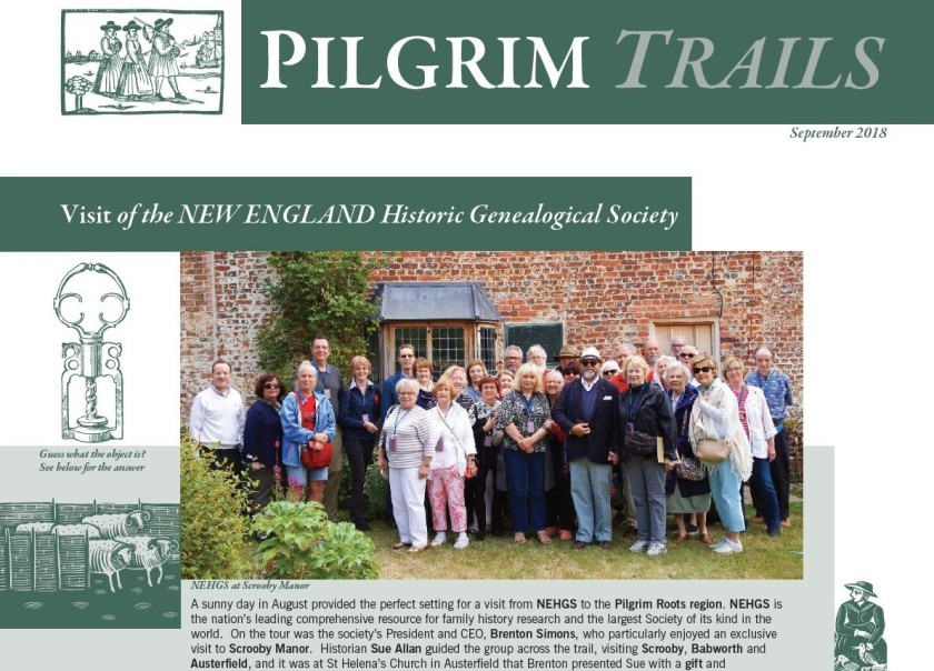 HLF Project Newsletter 3 Pilgrim Trails extract