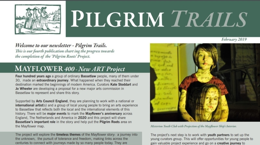 HLF Project Newsletter 4 Pilgrim Trails extract